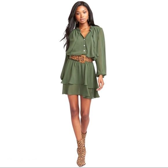 Show Me Your MUMU Green Channing Dress Small